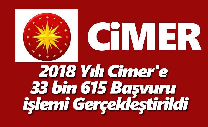2018 Yılı Cimer'e 33 bin 615 Başvuru İşlemi Gerçekleştirildi