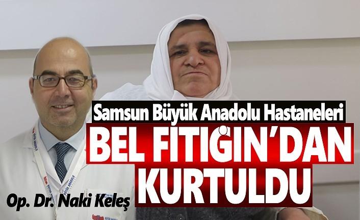 Büyük Anadolu Hastanelerine geldi Bel fıtığından kurtuldu