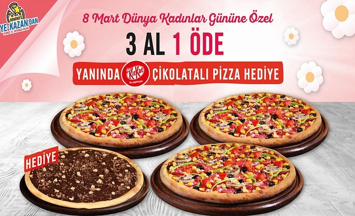 Domino's Pizza'dan kadınlara en tatlı armağan!
