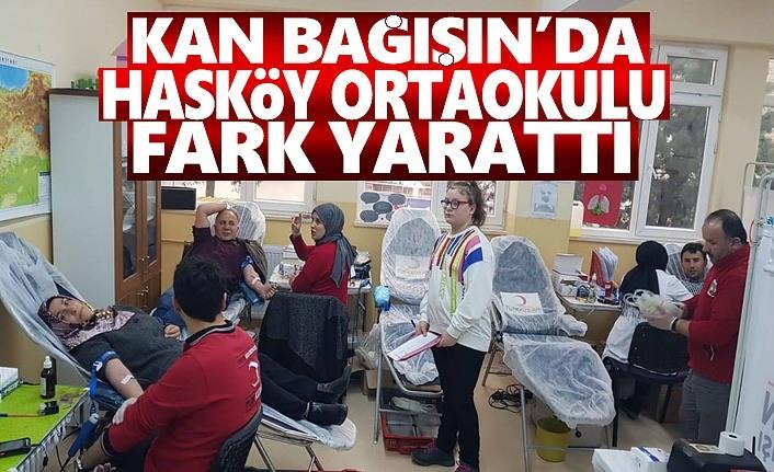 Hasköy Ortaokulu Kan Bağışında Rekor Kırdı