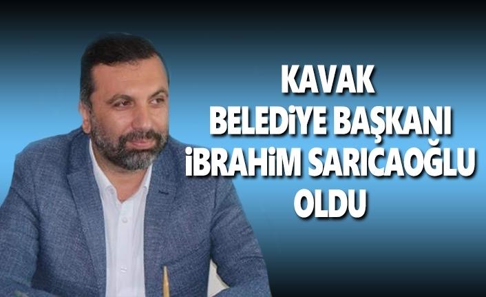 İbrahim Sarıcaoğlu Kavak Belediye Başkanı Oldu