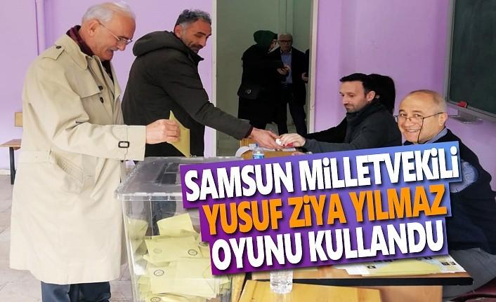 Samsun Milletvekili Yılmaz, oyunu Atakum'da kullandı