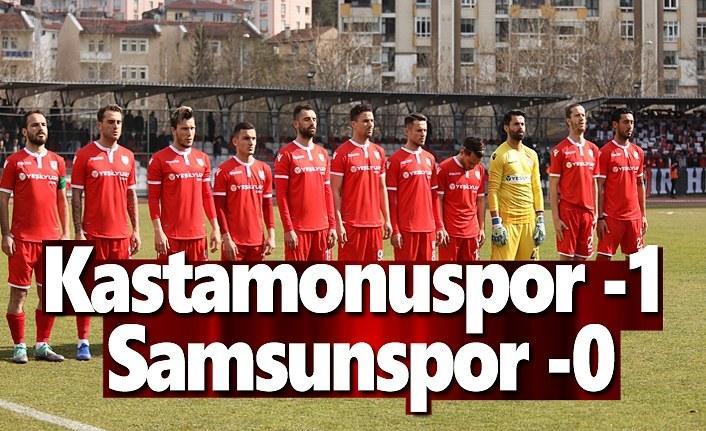 Samsunspor ve Kastamonuspor Maç Sonucu 0-1