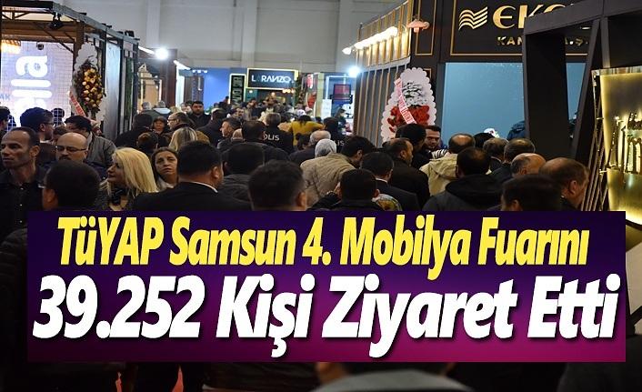 Tüyap Samsun 4. Mobilya Fuarını 39.252 Kişi Ziyaret Etti