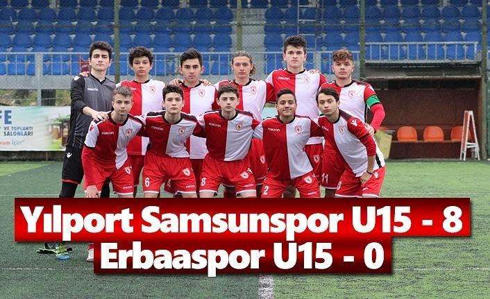 Yılport Samsunspor - U15 Erbaaspor U15 : 8 - 0