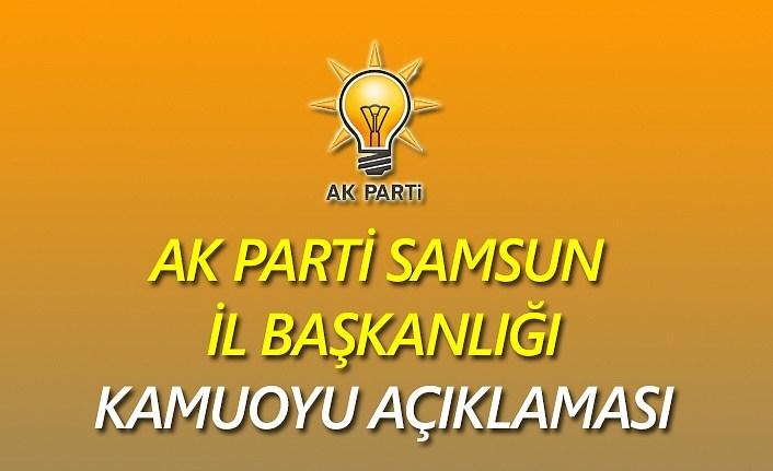 AK Parti Samsun: Hukukçuya yakışmayan  bir açıklama