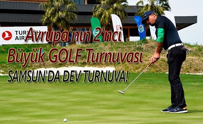 Avrupa'nın 2'nci büyük golf turnuvası Samsun'da yapılıyor