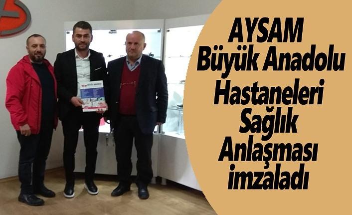 AYSAM ve Büyük Anadolu Sağlık Anlaşması İmzaladı