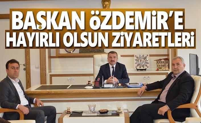 Başkan Özdemir'e Ziyaretler Sürüyor