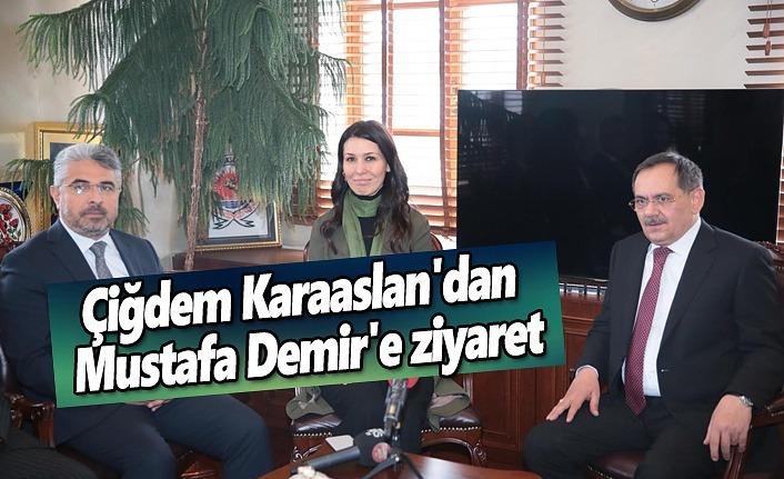 Çiğdem Karaaslan'dan Mustafa Demir'e ziyaret