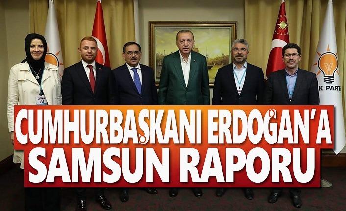 Cumhurbaşkanı Erdoğan'a Samsun Raporu