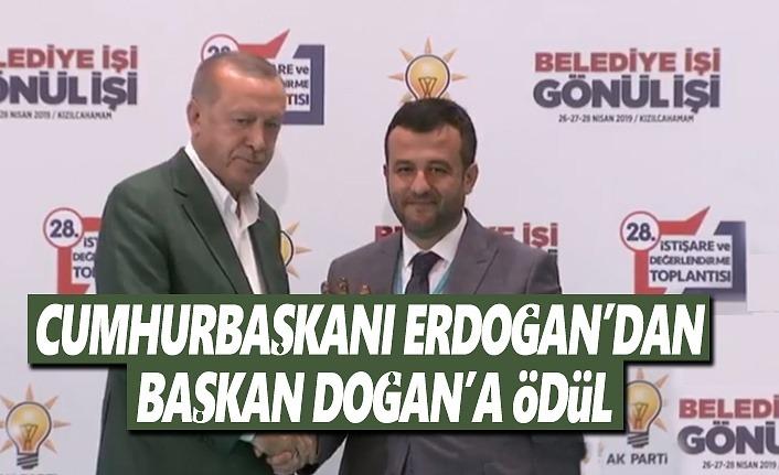 Cumhurbaşkanı Erdoğan'dan Başkan Doğan'a Ödül