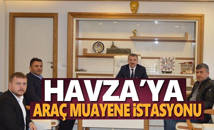 Havza'ya Araç Muayene İstasyonu Çalışmalarına Başlandı