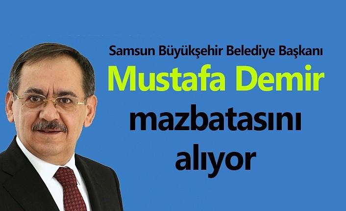 Mustafa Demir mazbatasını alıyor