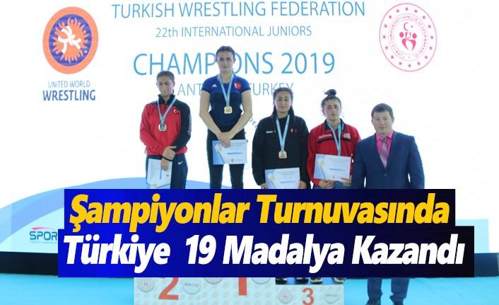 Şampiyonlar Turnuvasında Türkiye 19 Madalya Kazandı
