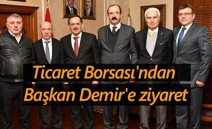 Samsun Ticaret Borsası'ndan Başkan Demir'e ziyaret