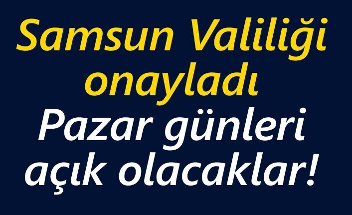 Samsun'da esnaf ve sanatkarlar pazar günleri de açık olacak!