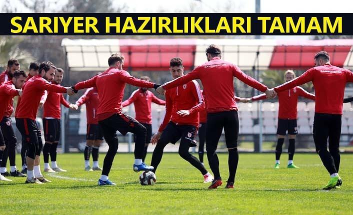Samsunspor Sarıyer'e hazır, maç saatini bekliyor