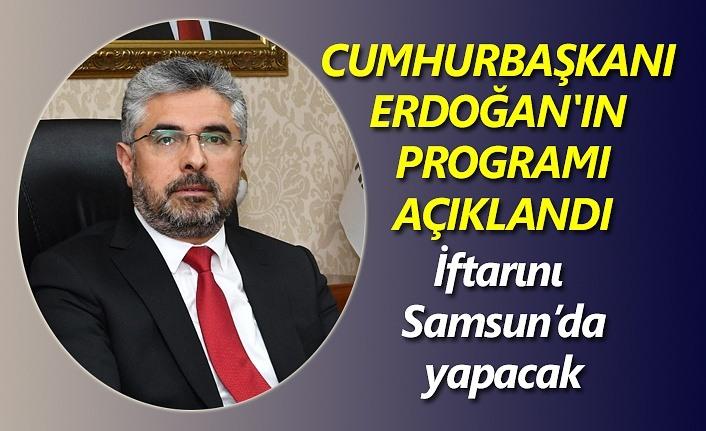 Başkan Aksu: Cumhurbaşkanımız 19 Mayıs'ta Samsun'da