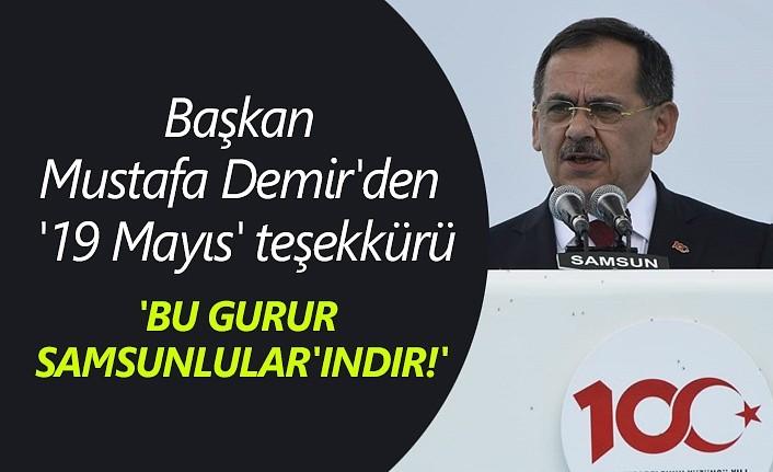 Başkan Mustafa Demir'den '19 Mayıs' teşekkürü