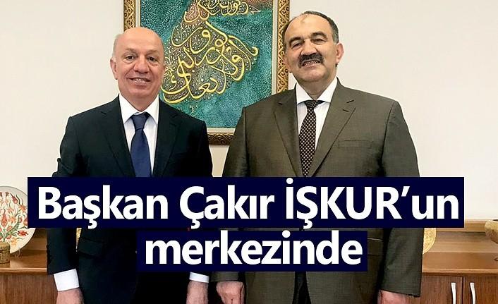 Başkan Sinan Çakır İŞKUR'un merkezinde