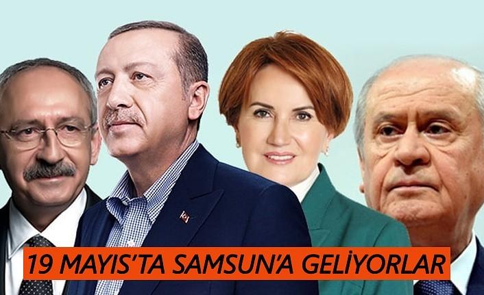 Erdoğan, Bahçeli, Kılıçdaroğlu ve Akşener Samsun'a geliyor