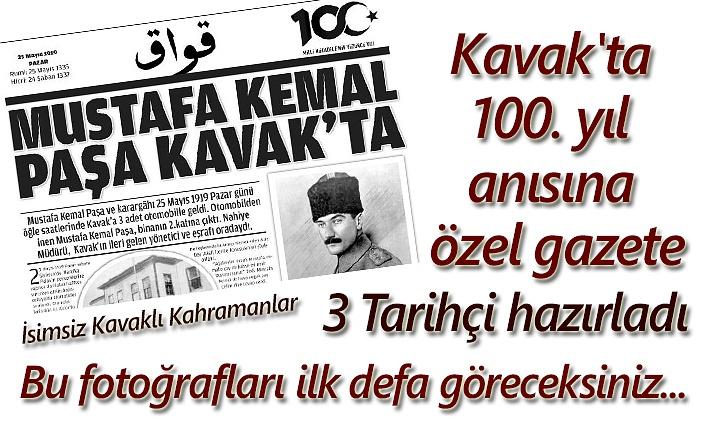 Kavak'ta 100. yıl anısına özel gazete