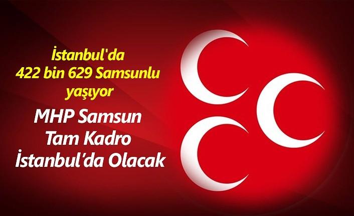 MHP Samsun'da İstanbul Seçimi hareketliliği!
