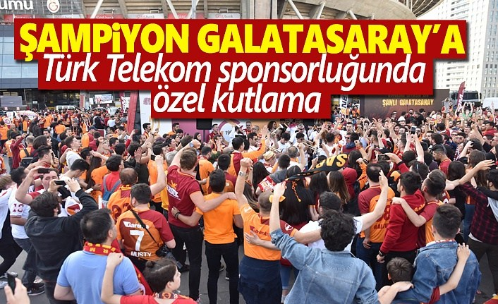 Şampiyon Galatasaray'a Türk Telekom'dan özel kutlama
