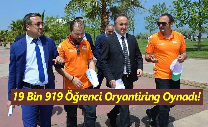Samsun'da 19 Bin 919 Öğrenci Oryantiring Oynadı!