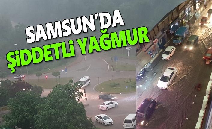 Samsun'da Şiddetli Yağmur Yolları Sele Çevirdi