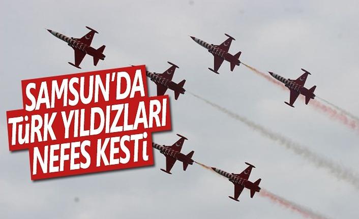 Samsun'da Türk Yıldızları Nefes Kesti