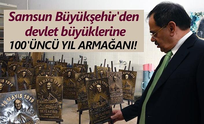 Samsun'dan 100'üncü yıl anısına devlet büyüklerine hediye!