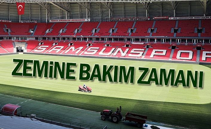 Samsunspor'da saha bakımları sürüyor!
