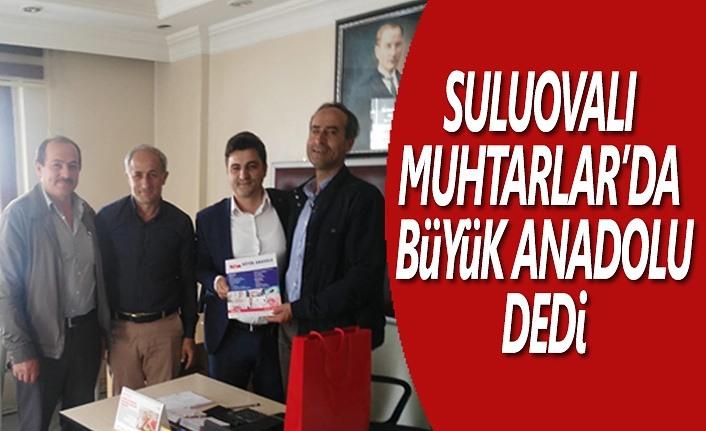 Suluovalı Muhtarlar'da 'Büyük Anadolu' dedi