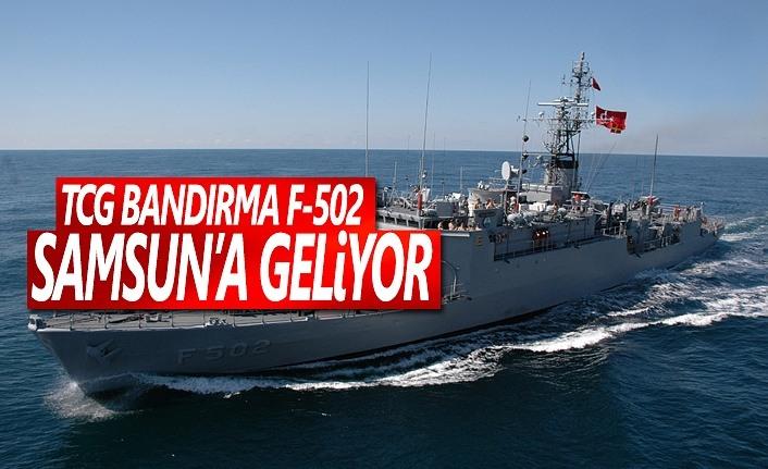 TCG Bandırma F-502 Askeri Gemi Samsuna Geliyor
