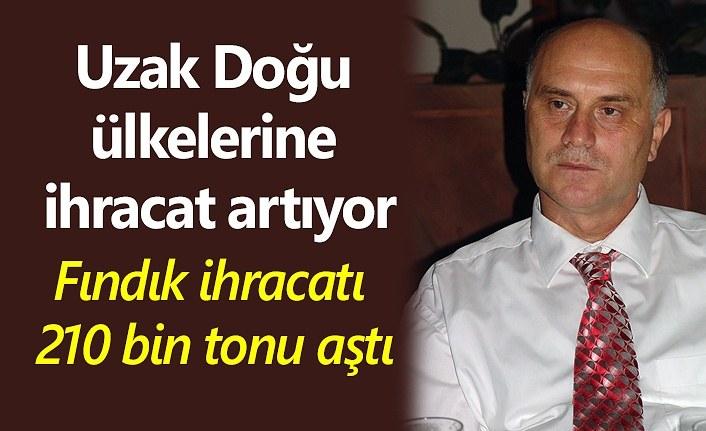 Türkiye iç fındık ihracatı 210 bin tonu aştı