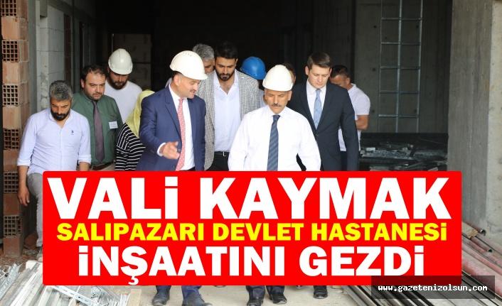 Vali Kaymak, Salıpazarı Devlet Hastanesi İnşaatını Gezdi