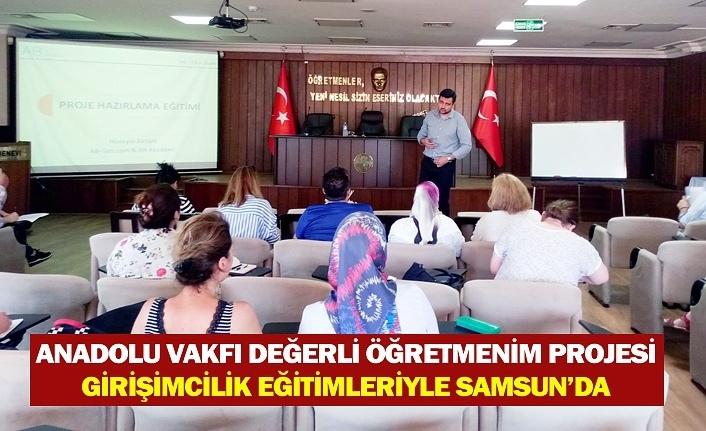 Değerli Öğretmenim projesi Samsun'da