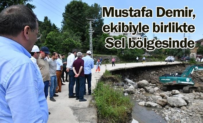 Mustafa Demir ekibiyle sel bölgesinde