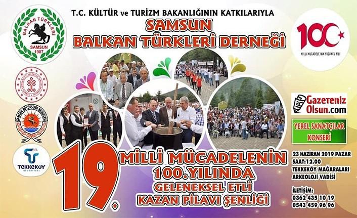 Samsun Balkan Türkleri'nden Etli Kazan Pilavı Şenliği