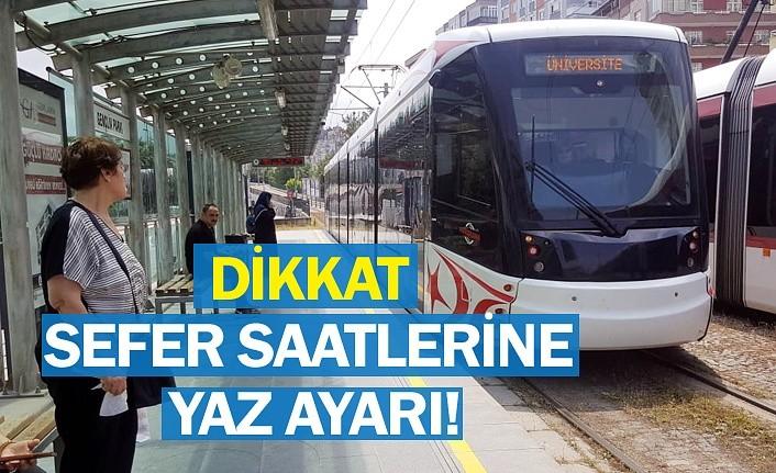 Samsun'da tramvay, otobüs ve teleferikte yaz dönemi değişikliği