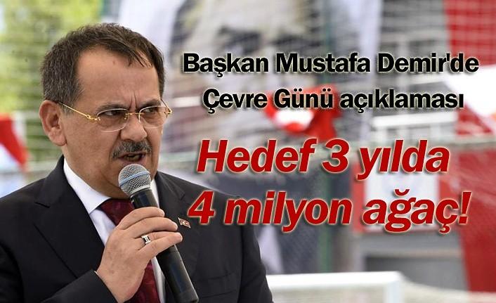 Samsun'un nüfusu kadar fidan dikilecek!