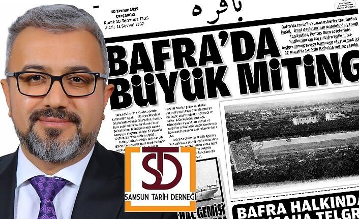 Bafra'da 100. yıl gazetesi çıkarıldı!