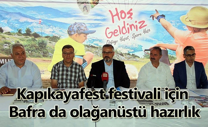 Bafra Kapıkayafest Festivali'ne hazır