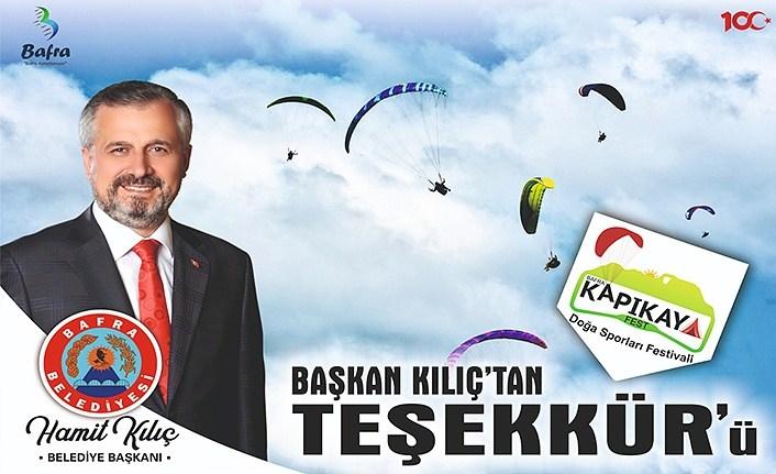 Başkan Kılıç'tan Kapıkayfest Teşekkürü