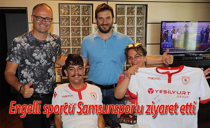 Engelli sporcu Samsunspor'u ziyaret etti