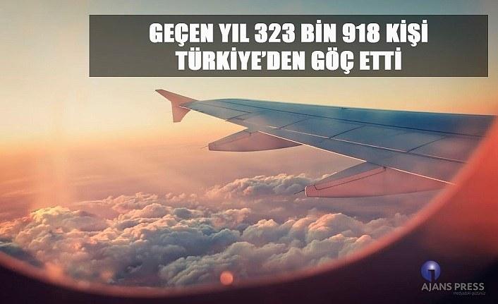 Geçen Yıl Türkiye'den kaç kişi göç etti?