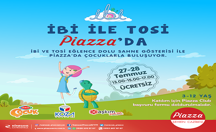 Piazza'dan Çocuklara Tatil Eğlencesi