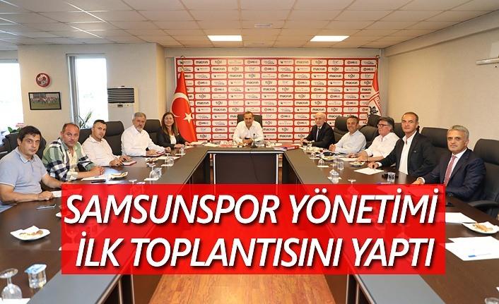 Samsunspor'da görev dağılımı yapıldı